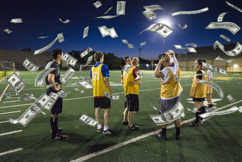 playing football betting